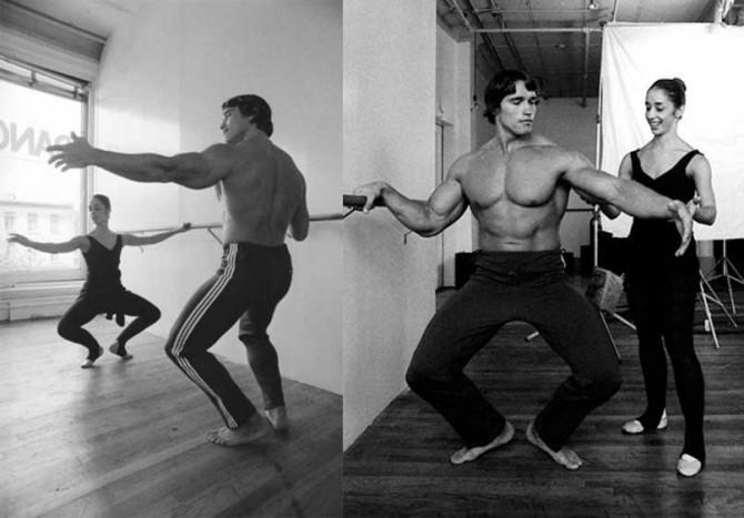 Арнольд Шварценеггер занимается бальными танцами