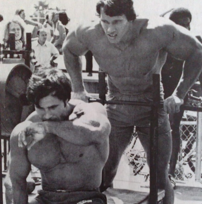 Арнольд Шварценеггер и Франко Коломбо