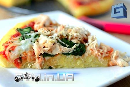 Рецепт: Домашняя пицца со шпинатом и курицей