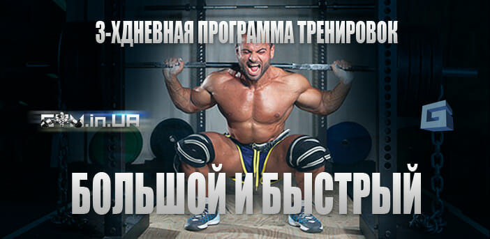 """Программа тренировок """"Большой и Быстрый"""" на 3 дня"""